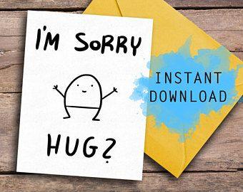 Cute Greeting Card Apology Card I M Sorry Card Love Card Best