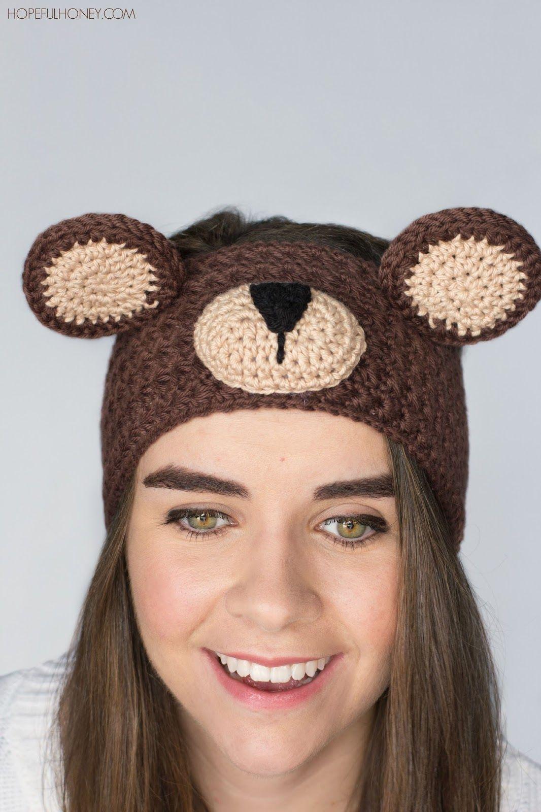 Teddy Bear Headband Crochet Pattern | Free crochet, Teddy bear and Bears
