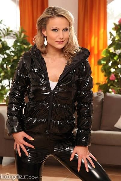 Pin By Ksia On Jackets  Pinterest  Latex, Puffy Jacket And Black Raincoat-3023