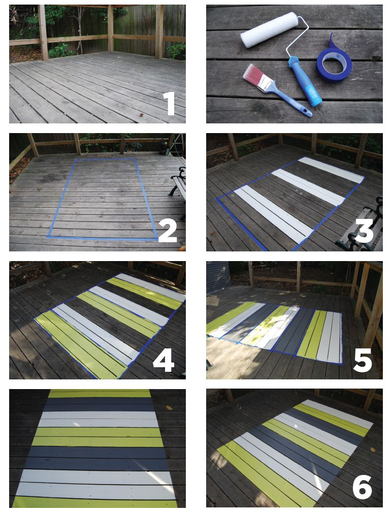 Project A Painted Patio Rug Is Easy And Inexpensive