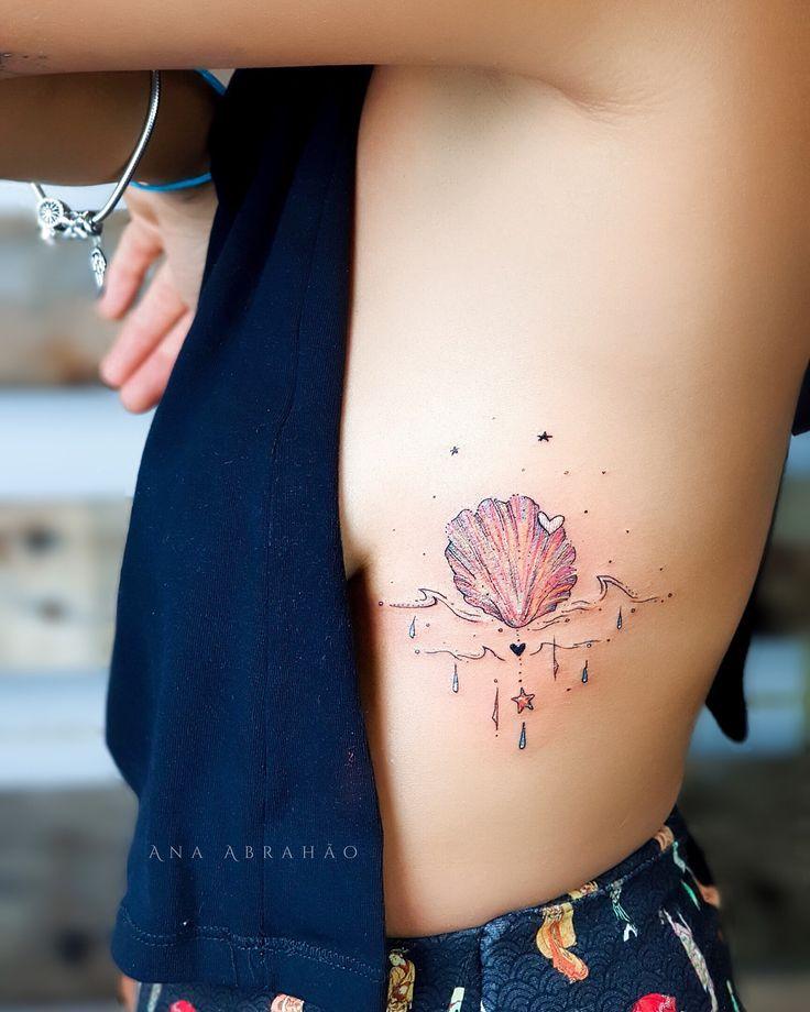 Ana Abrahão M A R D E J U. Liebe, Liebe, das Meer .. Ju! Eine Muschel, eine Vorliebe ...   - Tatuajes -   #