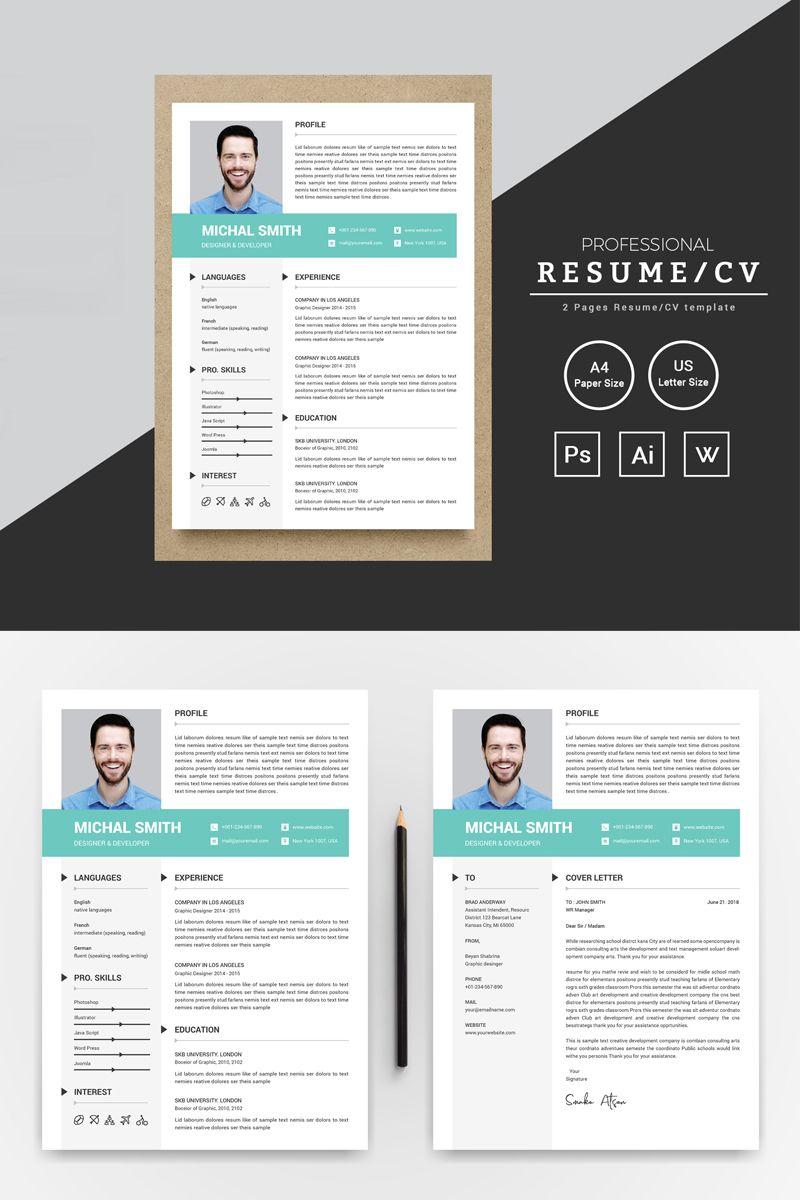 Michal Smith Designer & Developer Resume Template 74316