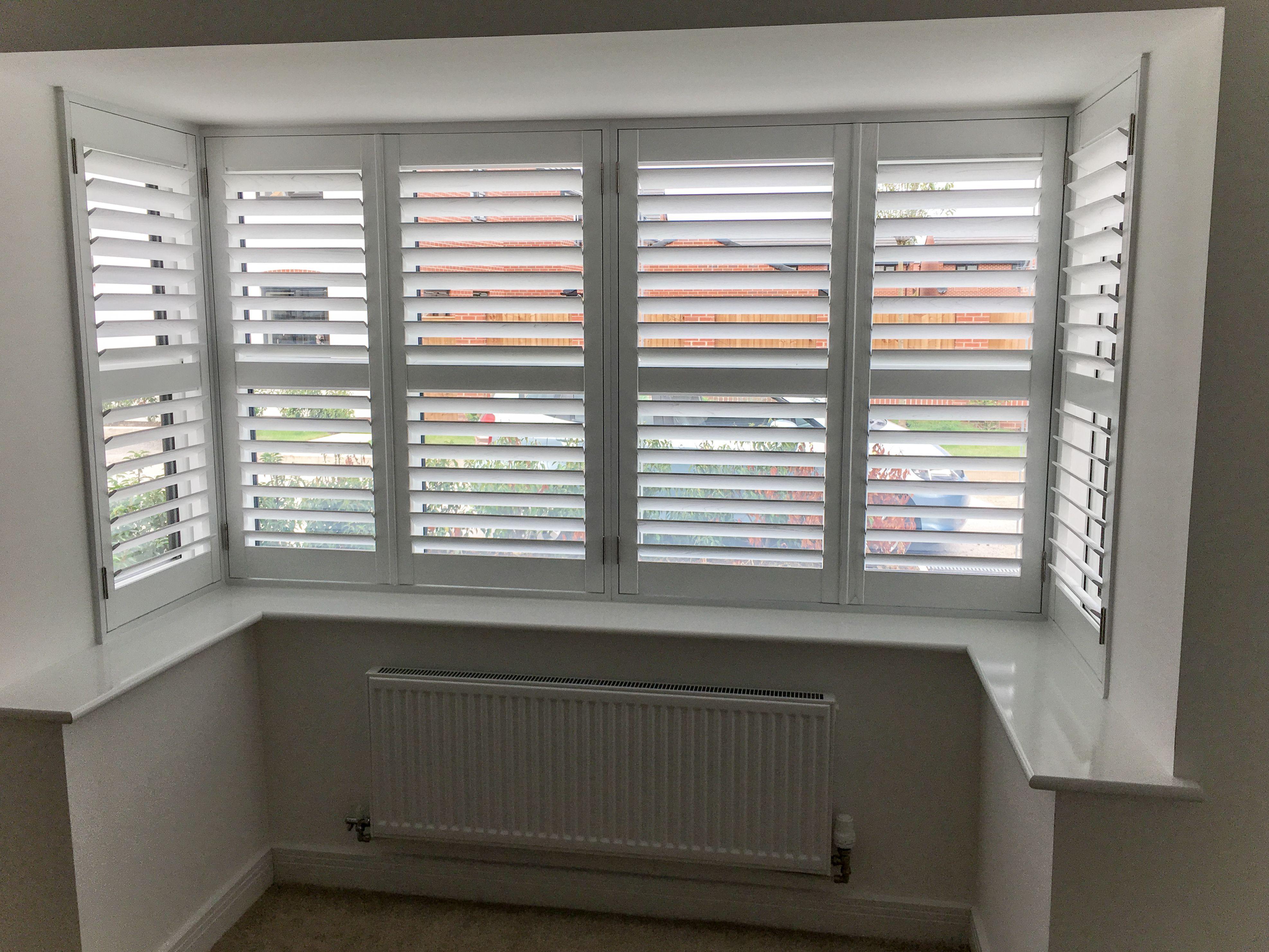Box bay window in Stockport Bay window blinds, Bay