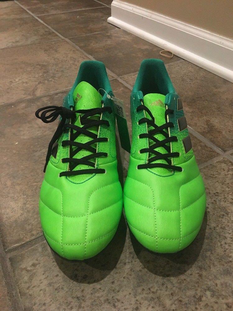 7fc2e9e06 Adidas ACE 17.4 FxG Men s Soccer Cleats Green Black Size 13 (BB1051) (eBay  Link)