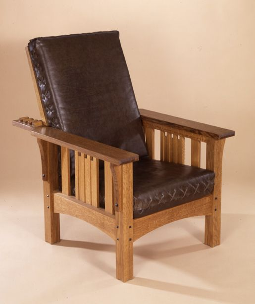 Morris Chairs The Original Adjule Back Chair Handmade At Kevin Rodel Furniture Design Studio Maine