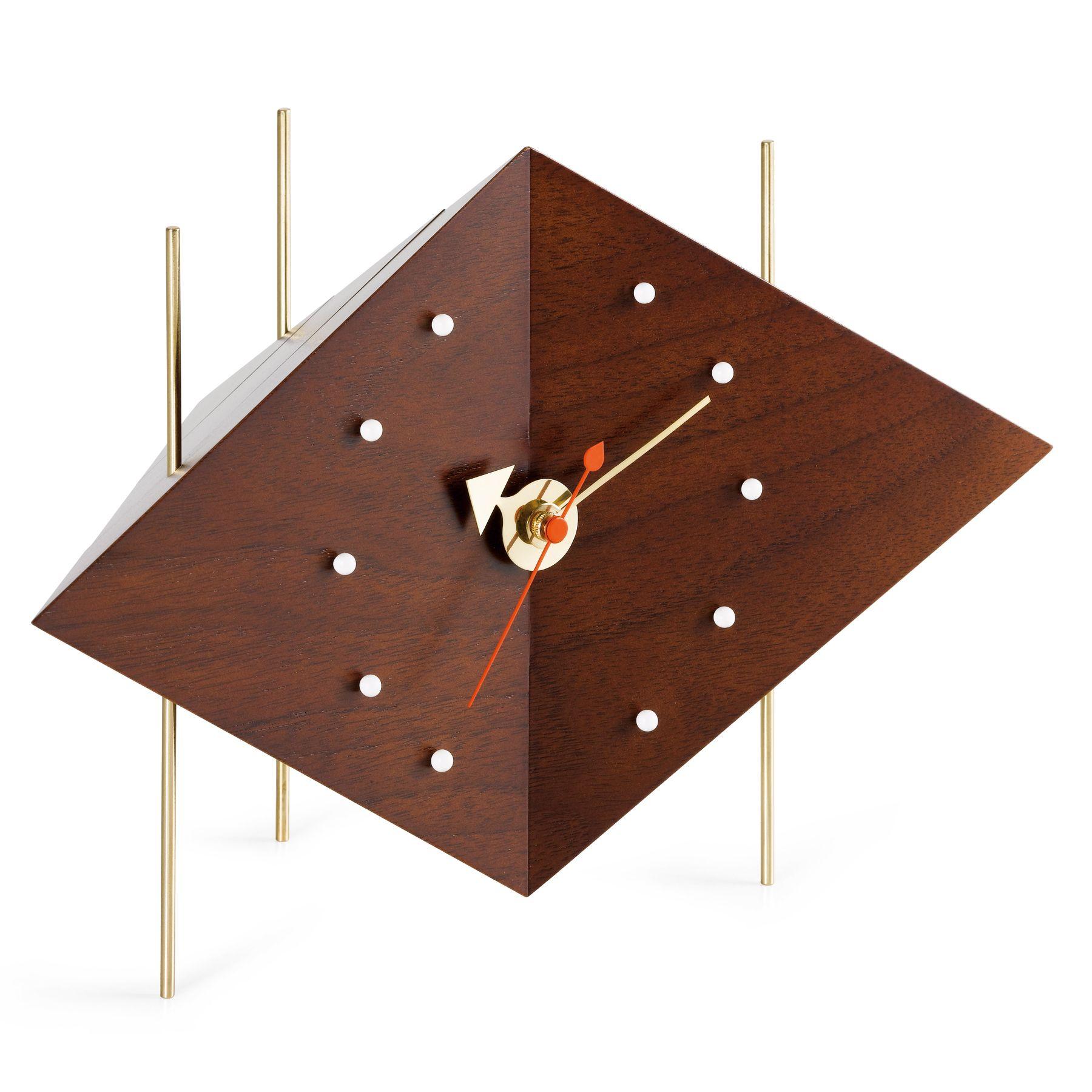 vitra diamond clock nussbaum massiv vintage charme pinterest uhren tischuhr und george. Black Bedroom Furniture Sets. Home Design Ideas