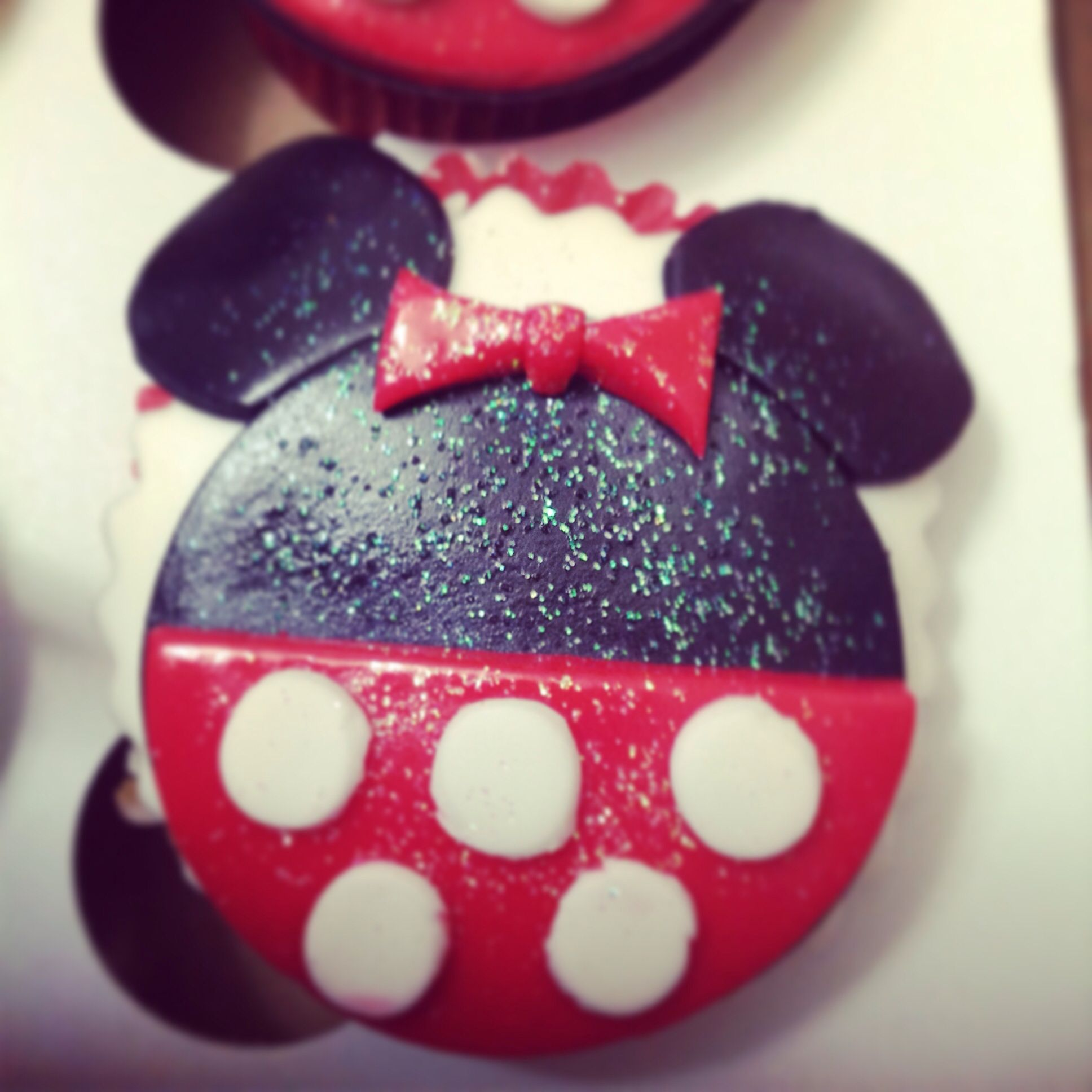 mini mouse cup cake crema de la crema
