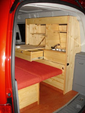 vw caddy maxi mit trendline bio m belbausatz innenausbau. Black Bedroom Furniture Sets. Home Design Ideas