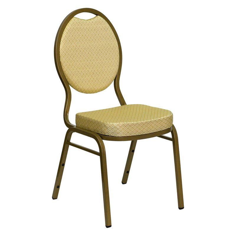 Hercules Series Teardrop Back Stacking Banquet Chair With 2.5 Inch Thick  Seat   FD C04 ALLGOLD 2804 GG