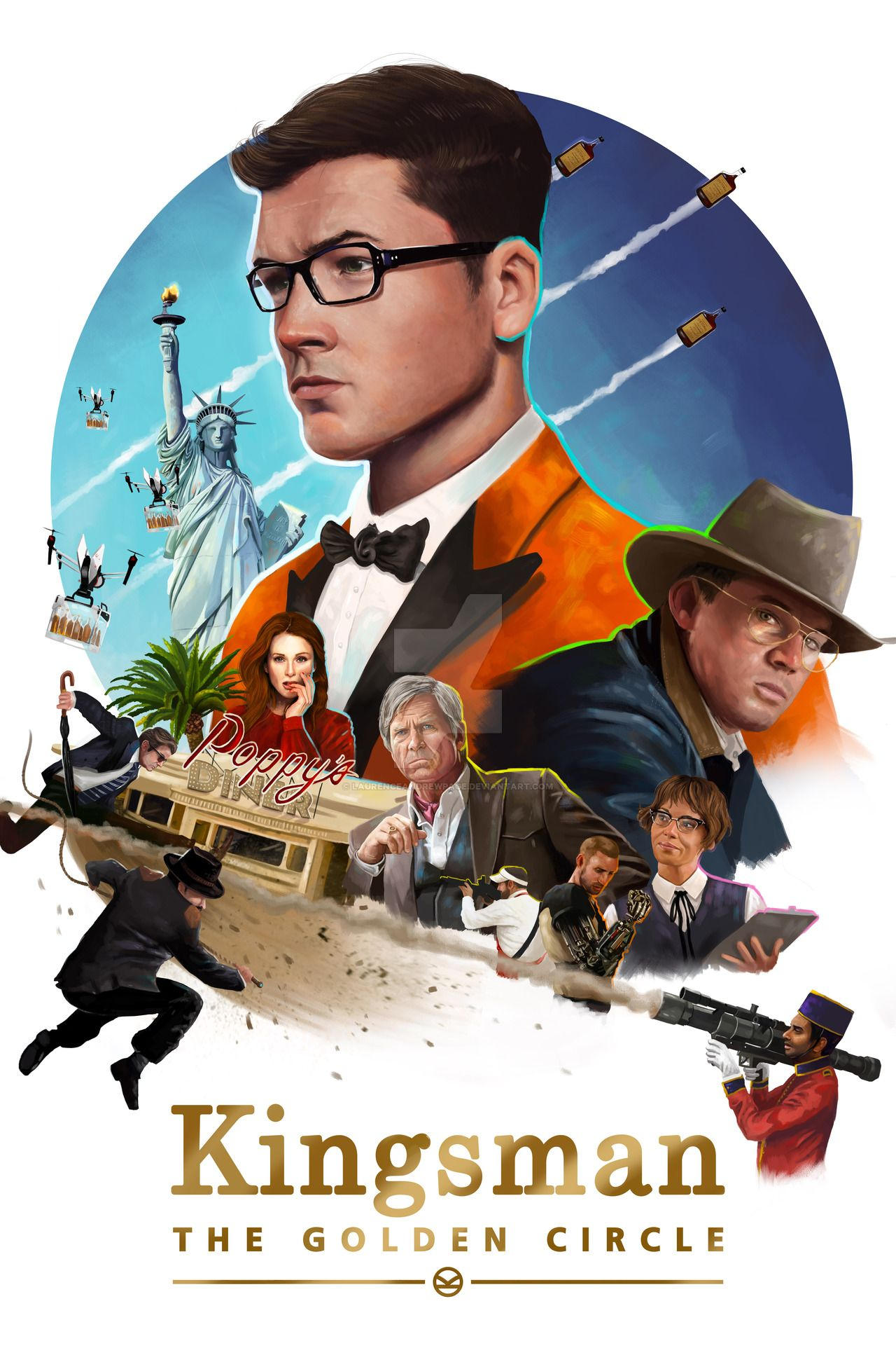 Kingsman The Golden Circle By Laurenceandrewpage Kingsman The Golden Circle Kingsman Kingsman Movie
