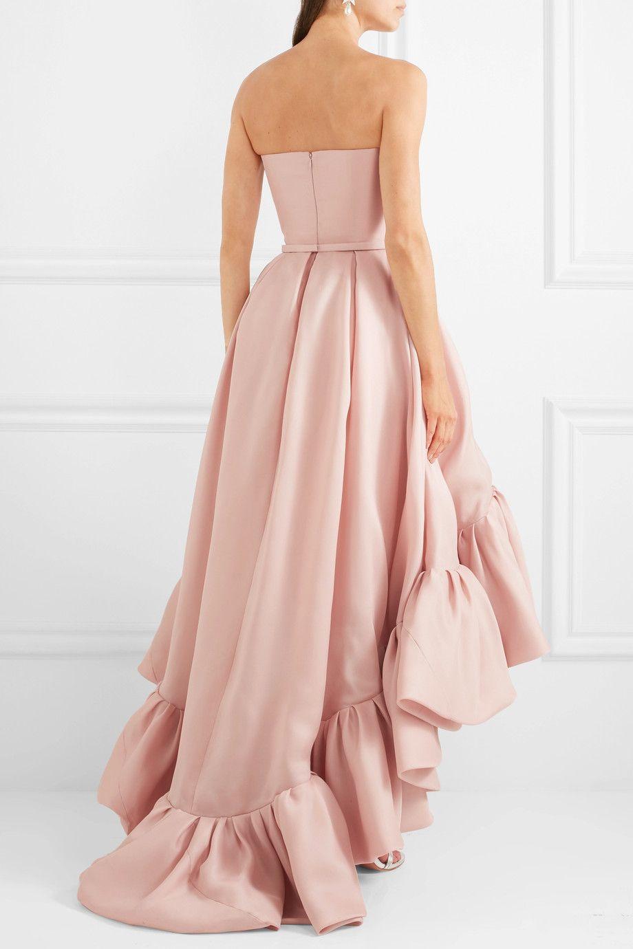 Reem Acra   Asymmetric ruffled silk-crepe gown   NET-A-PORTER.COM ...