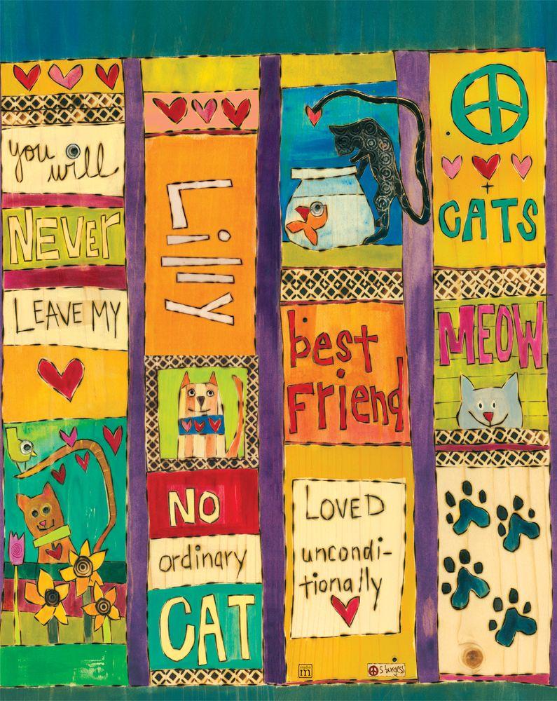 20 Custom Cat Lover Art Pole Peace Poles Garden Poles