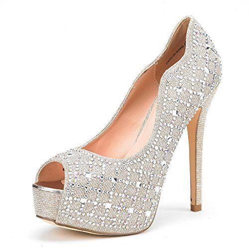 29514ca59 Bonnibel Womens Tiara-2 Stiletto Heel Glitter Evening Wedding Promo Sandals  Shoes,Silver,7.5