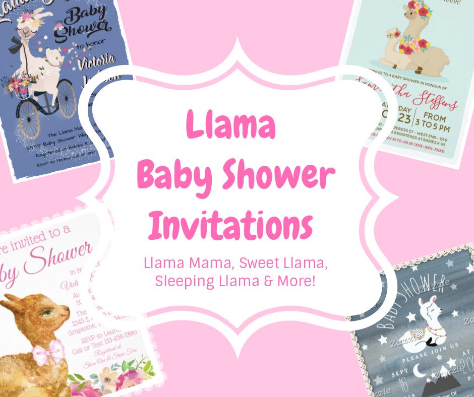 Llama Mama Other Llama Baby Shower Invitations Cat Pet Llama