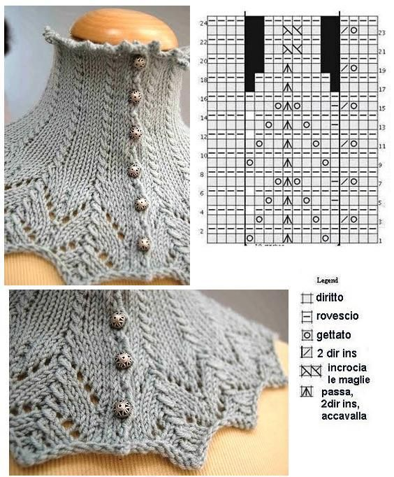 Knitted Victorian Collar | capas | Pinterest | Croché, Ganchillo y ...