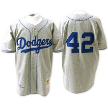 detailing cd88d cd844 Brooklyn Dodgers Authentic 1955 Jackie Robinson Road Jersey ...
