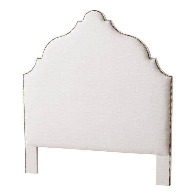 Contemporary Morocco White Queen Headboard
