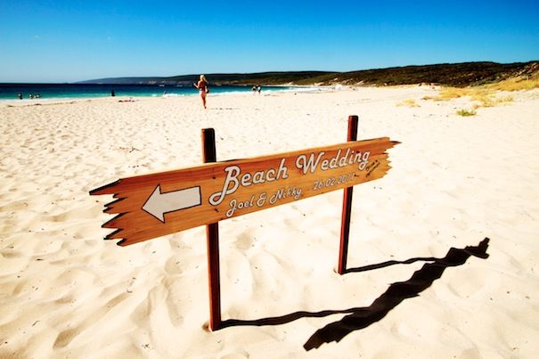 cute beach wedding sign | WEDDING IDEAS for SOMEONE SOMEDAY...ME ...