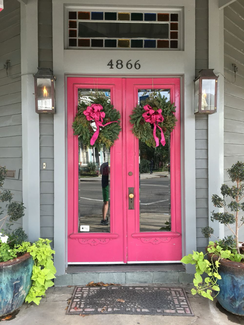 Historic Pink Doors Magazine Street New Orleans Doors Pinterest