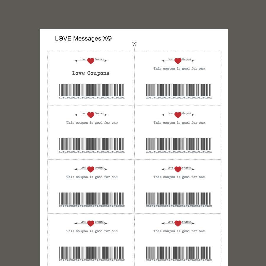 Love Coupons Blank Love Coupon Printable Coupons Last Minute