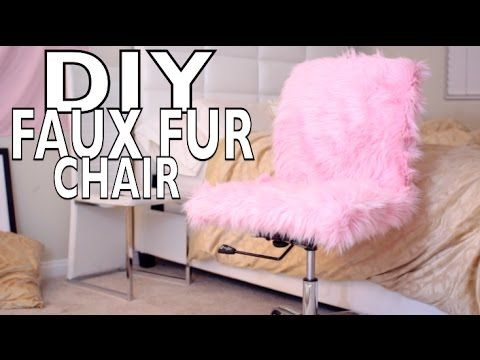 Desk Chair Youtube Stressless Chairs Diy Faux Fur Luxe Attic Closet Office In