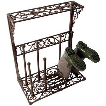 Decorative Cast Iron Boot Storage Rack
