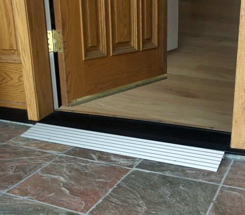 Zero clearance or zero step thresholds solutions for Wheelchair accessible doorways