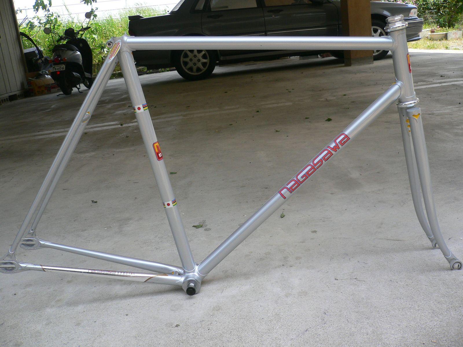 njs keirin track bike &frame for sell: NAGASAWA NJS keirin frame set ...