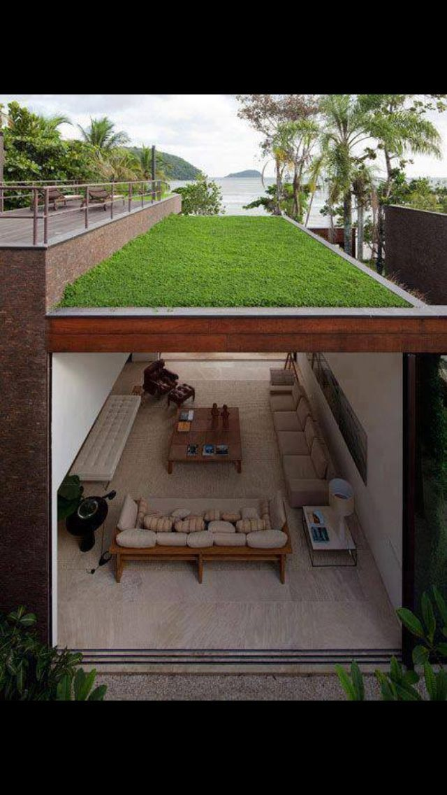 30 incredible green roof designs luxury homes interior inspirations pinterest haus. Black Bedroom Furniture Sets. Home Design Ideas