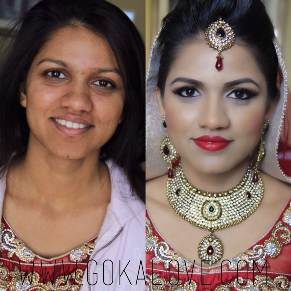 before and after of my indian bride in washington dc! makeup