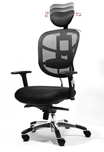 Office Factor Executive Managers High Back Black Mesh