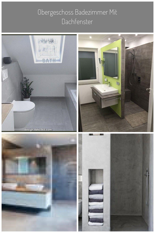 Einzigartige Und Kreative Obergeschoss Badezimmer Mit Dachfenster Badezimmer Dachfenster Obergeschoss Badezimmer Betonoptik Dusche In 2020 Bathroom Toilet Bathtub