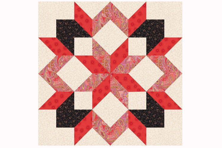 Use Easy Techniques to Sew Carpenter's Star Quilt Blocks