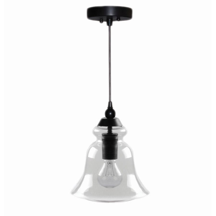Lowes Pendant Lights For Kitchen Fair Shop Allen  Roth 8In W Bronze Mini Pendant Light With Clear Glass Inspiration