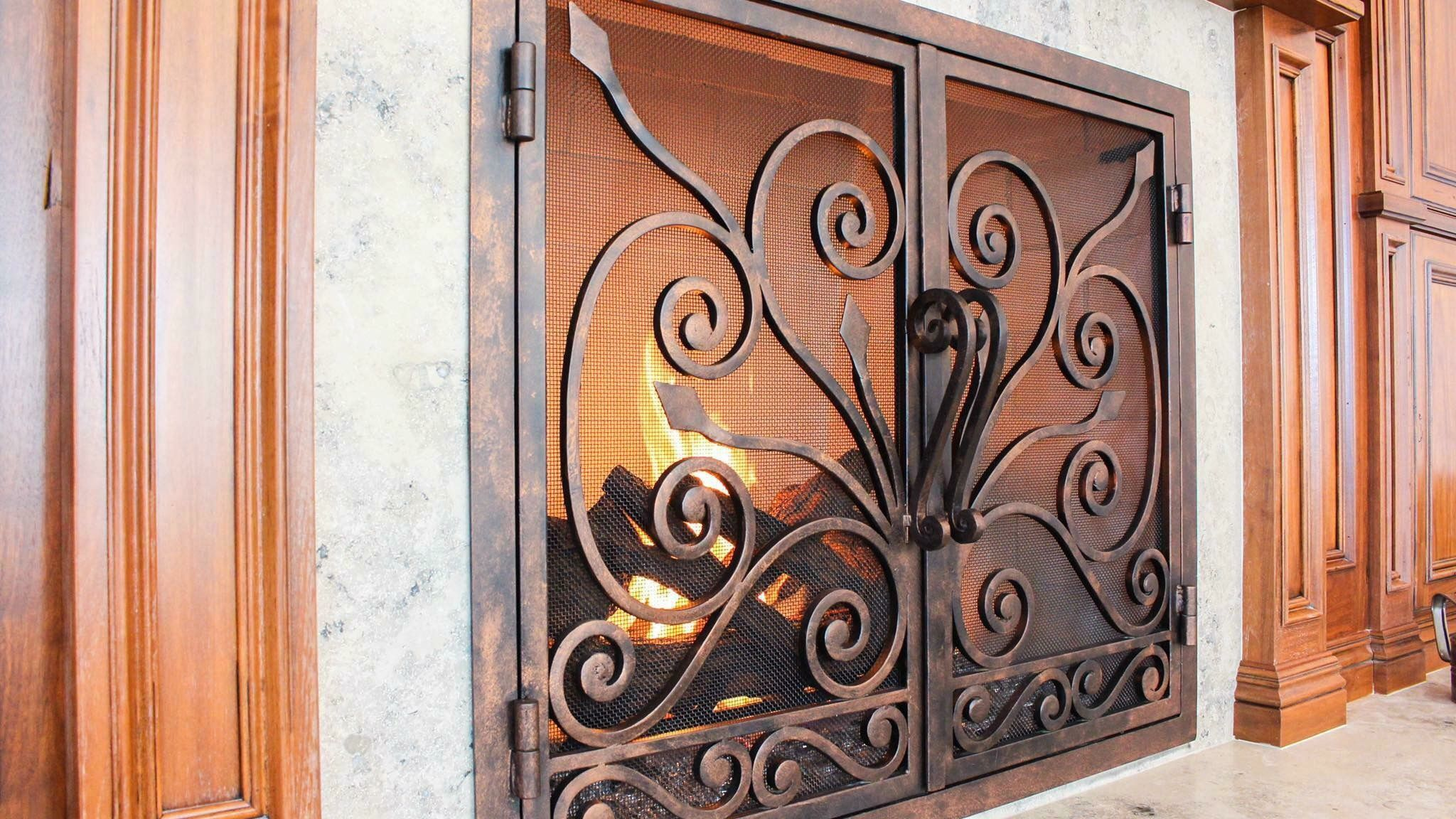 Fireplace Doors Rustic Fireplace Doors Interior Design