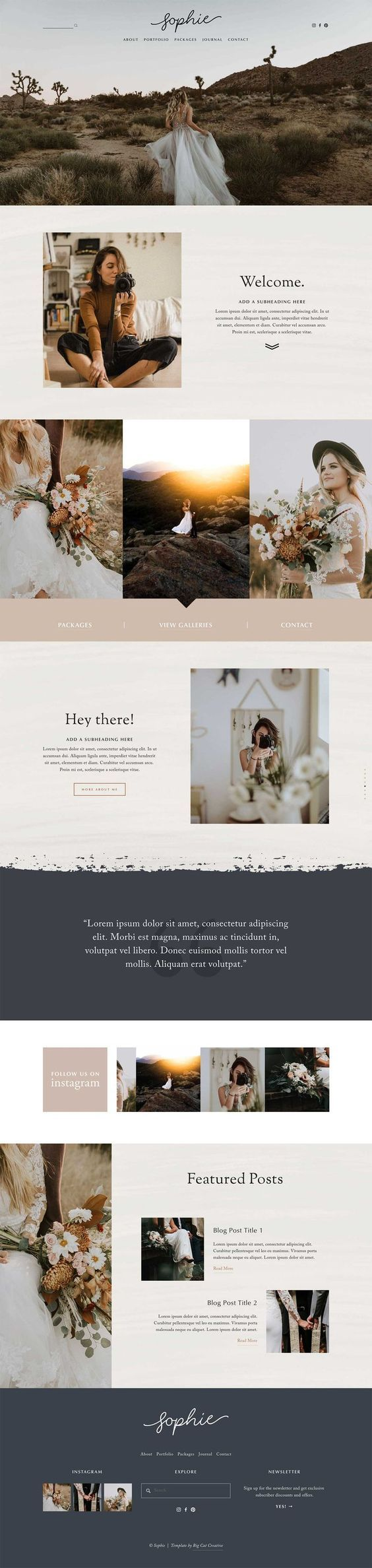 Wedding photographer website. #collageboard