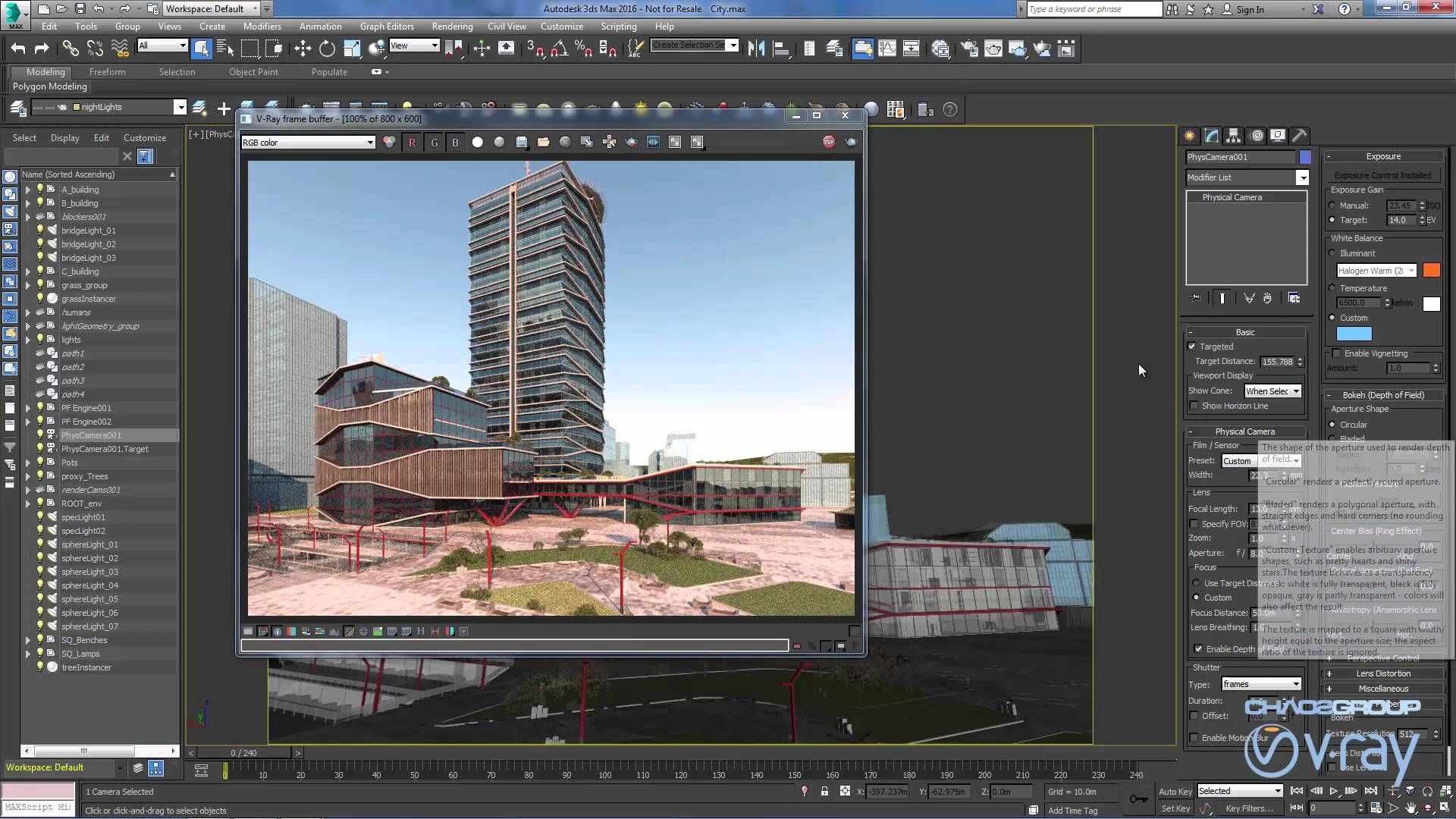 Nueva Physical Camera en VRay 3.2 para 3ds Max 2016 3ds