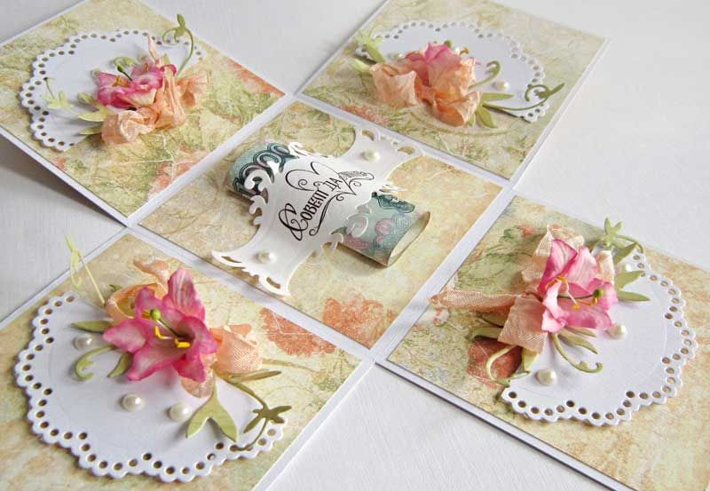 Как сделать коробочку открытки, марта открытка