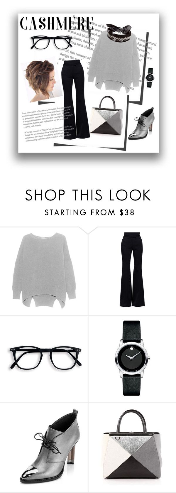 """""""#1"""" by siberiagirl ❤ liked on Polyvore featuring Alexander McQueen, Movado, Fendi and Fallon"""