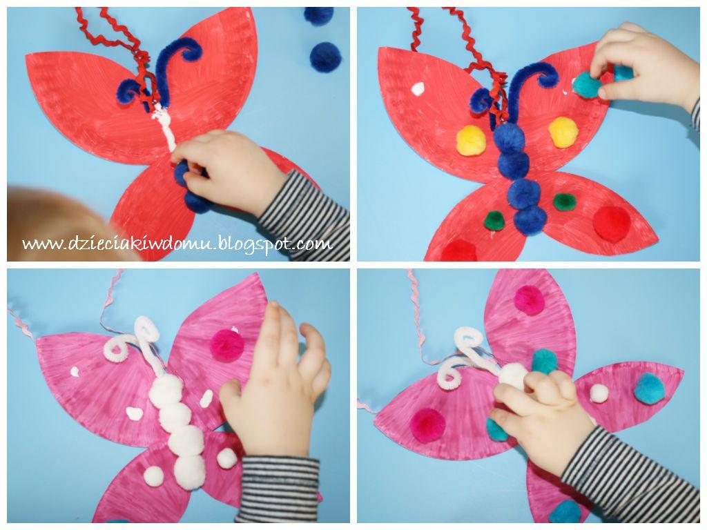 Kolorowe Motyle Dzieciaki W Domu Washer Necklace