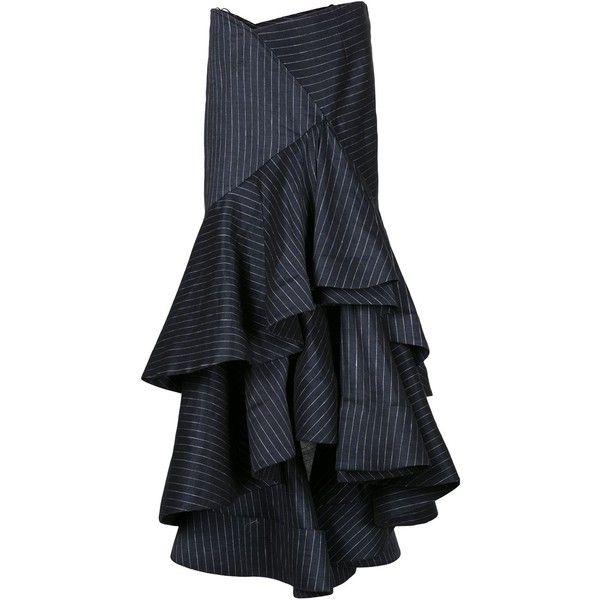 a685ff8c1d724 Rosie Assoulin Pinstripe Bidi Bidi Bom Bom Skirt ( 2