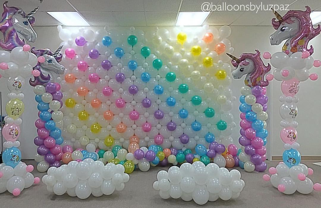 Unicorn Party Balloon Decor Luz Paz Store