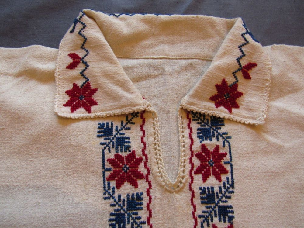 d5958f75e Antique BULGARIA Linen Ethnic Floral Embroidered Folk Blouse Smock Top  Homespun #Handmade #Casual