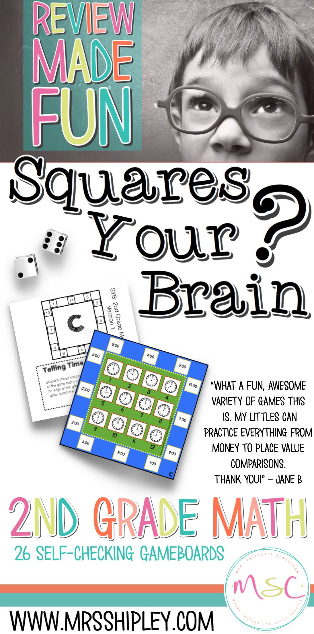 Second Grade Math Review Games (With images