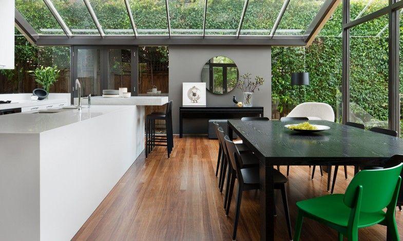 Une maison contemporaine avec véranda Kitchens, Interiors and Dining - plan d une belle maison