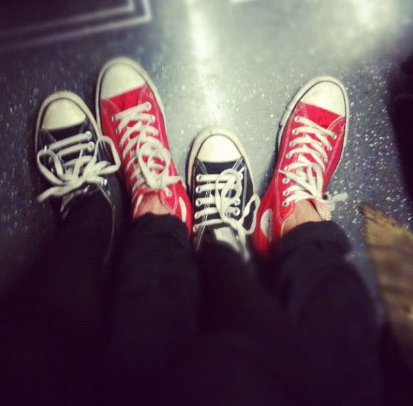 Converse on the tube