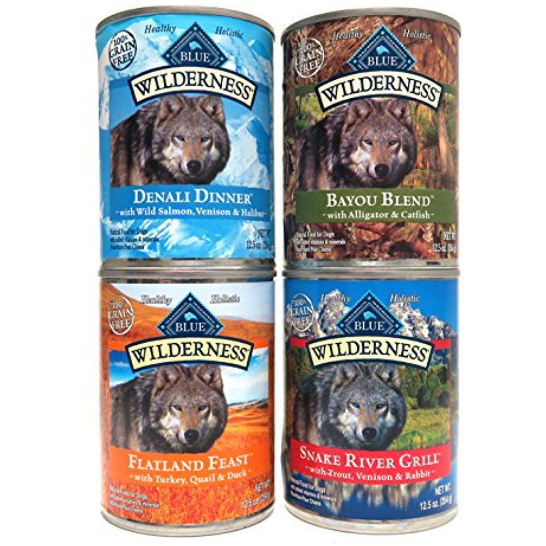 Blue Buffalo Wilderness Grain Free Dog Food Variety Pack 4