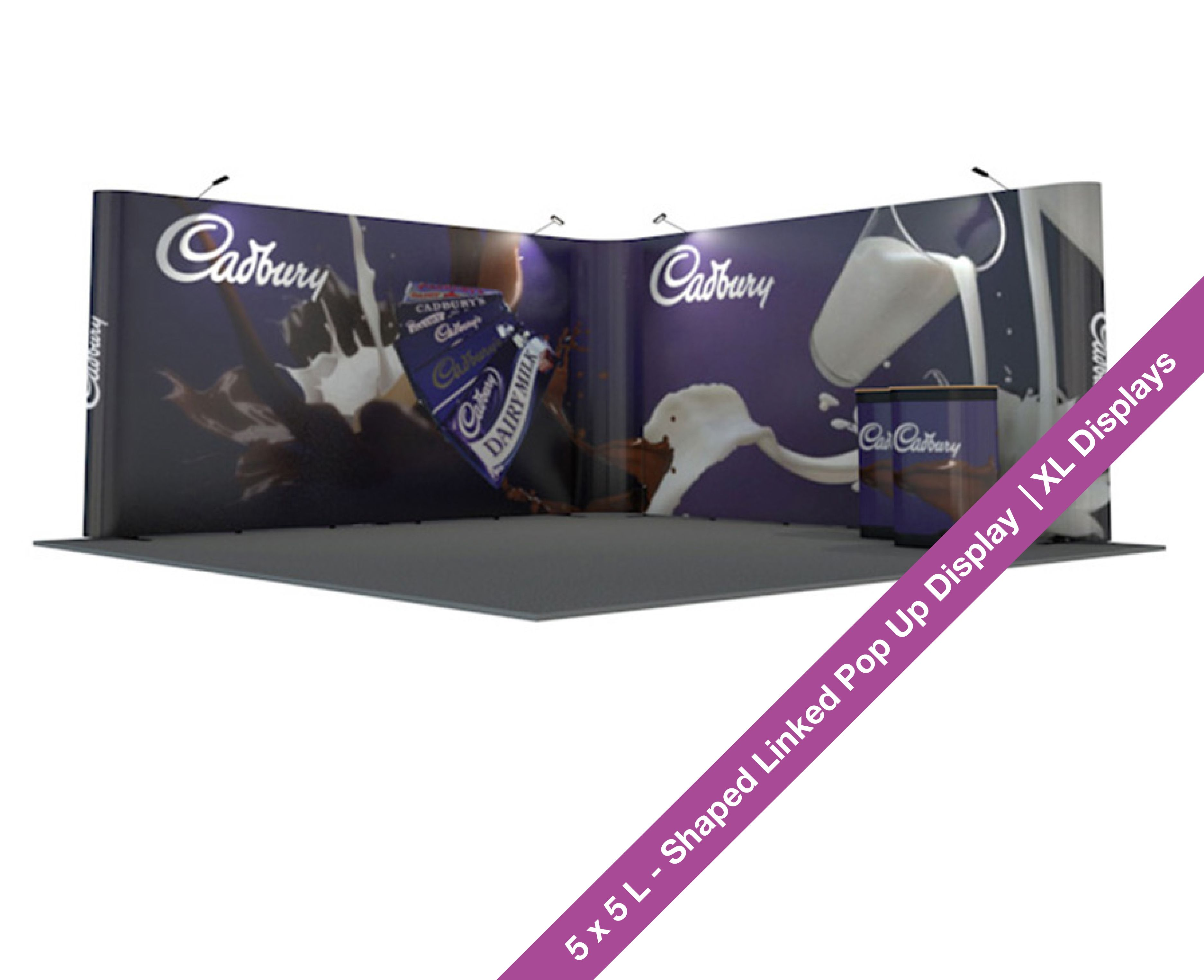 Exhibition Stand Cases : L shaped linked pop up stand 5m x 5m linked pop up stands pop up