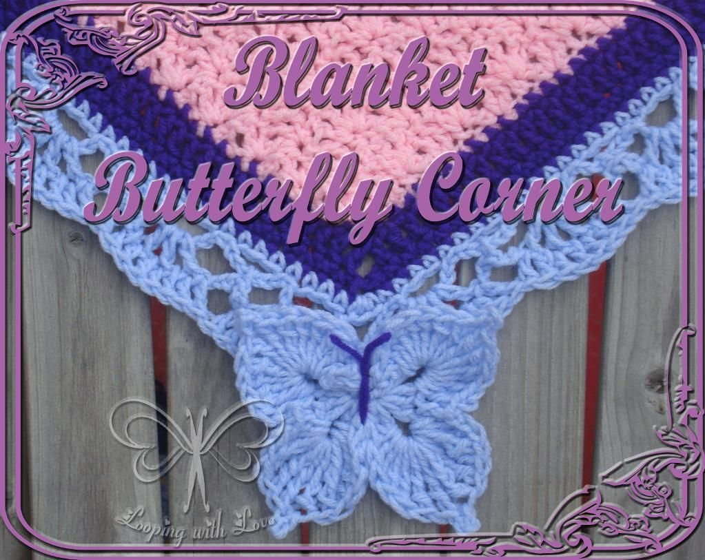 Butterfly Corner for a Blanket Border pattern on Craftsy.com. Add this Butterfly Border to ANY blanket border last round you're working on!