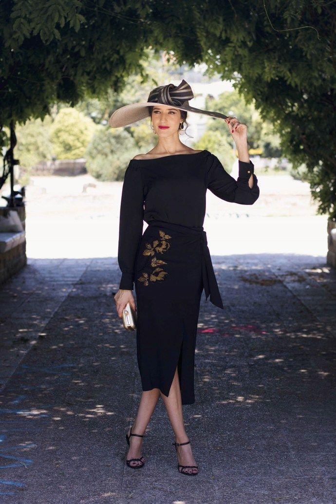 Vestido negro para boda de dia